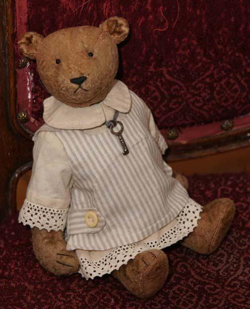 Милая Джейн, мишка тедди в одежде, платье