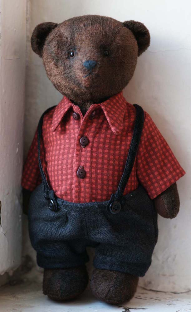 Плюшевый мишка Тедди с опилками