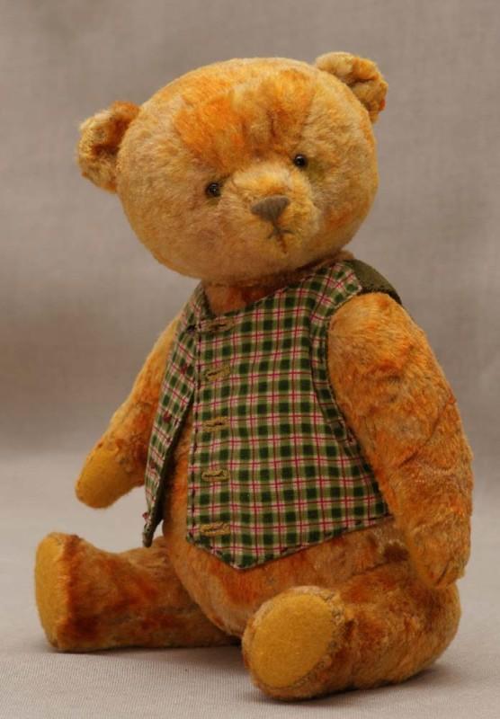 ooak yellow #teddy bear in westcoat