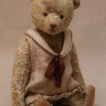 ooak teddy bear in dress