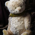 ooak white teddy bear by Hypatia