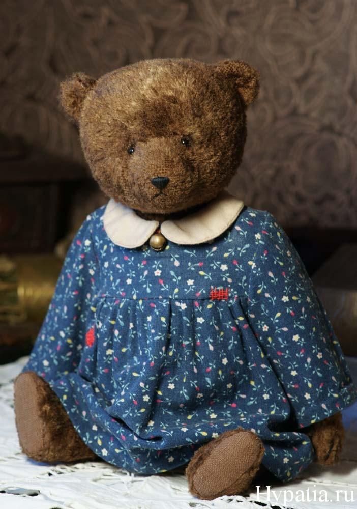 Авторский плюшевый медведь в платье