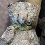 Авторский медведь из вискозы.