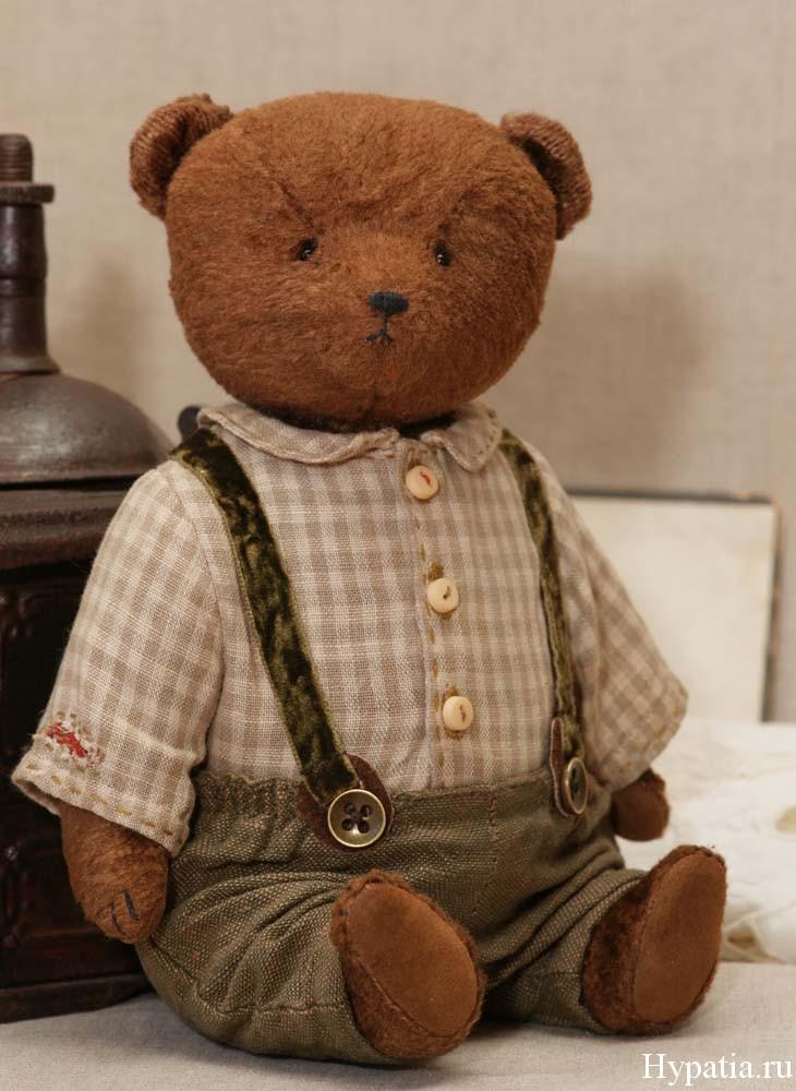 Винтажный медведь с опилками ретро купить
