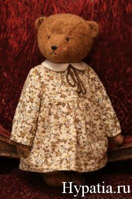 Плюшевая мишка в платье подарок девочке