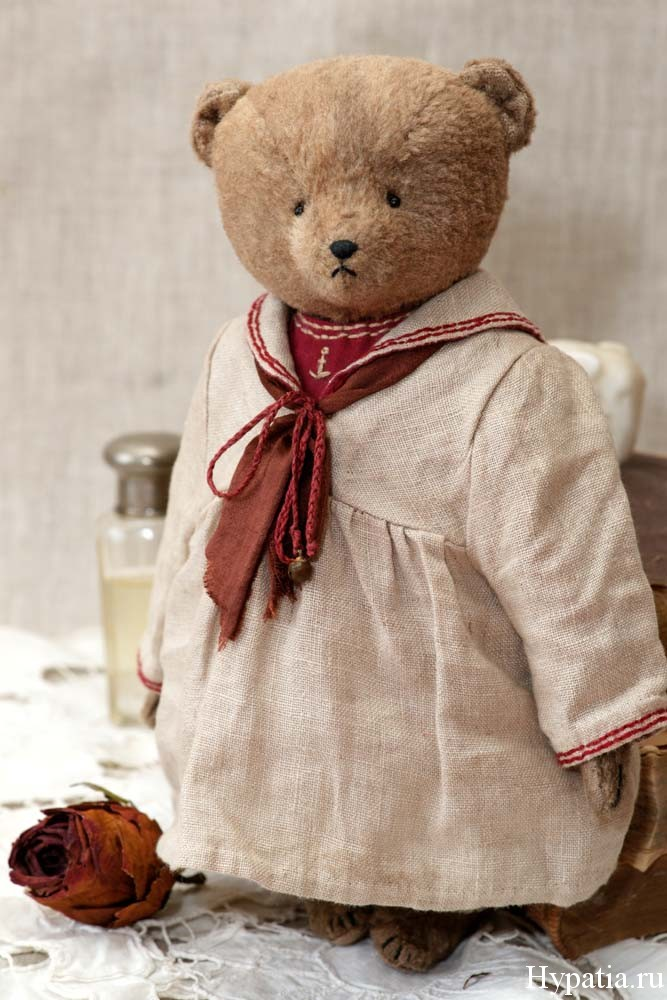 Авторский мишка тедди в ретро матросском костюме детей начала века