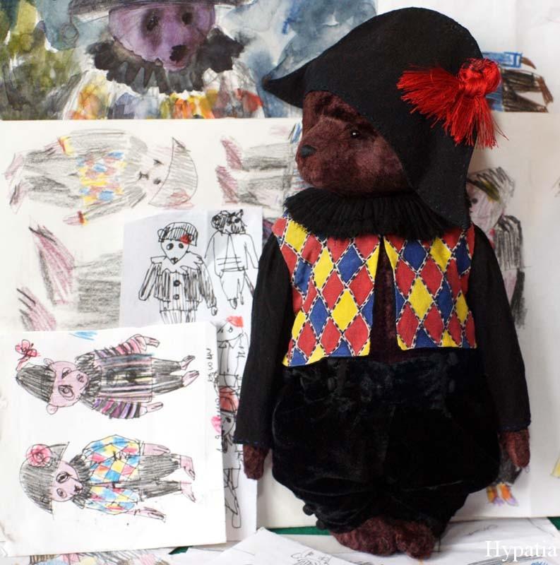 Одежда из шёлка и бархата, кофта с ромбами, чёрные штанишки