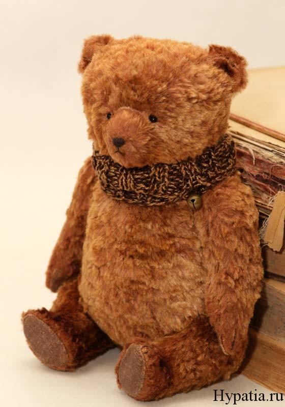 Медведь с опилками по авторской выкройке хендмейд.