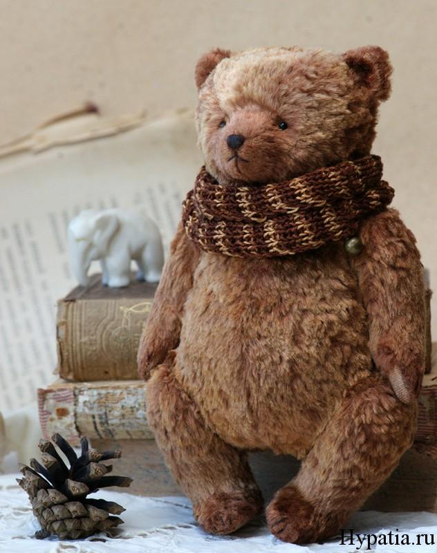 Винтажный медведь с опилками
