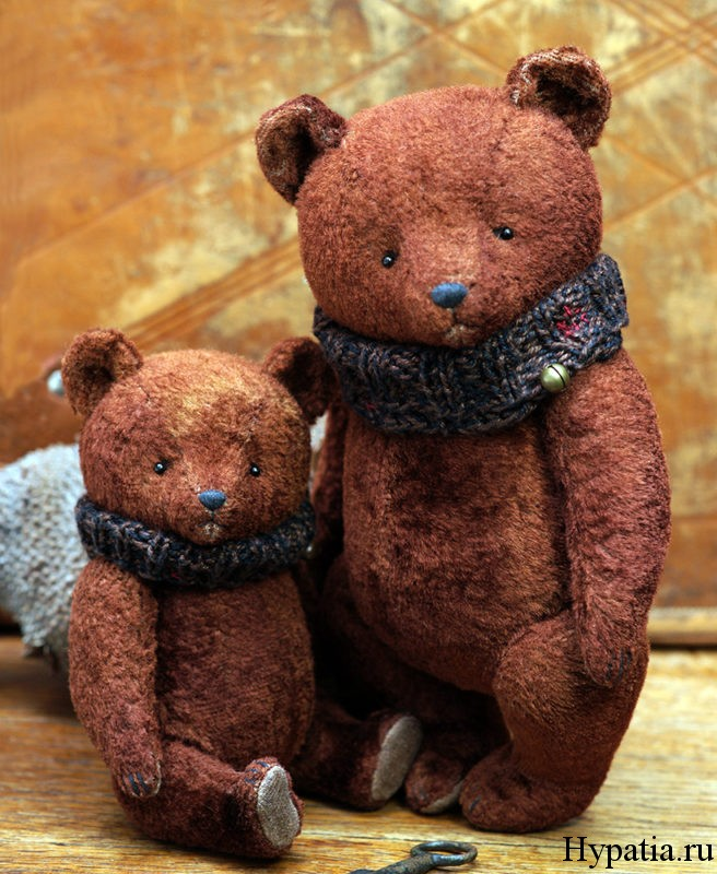 Винтажные медведи ретро