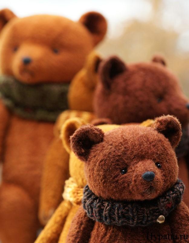 Авторские плюшевые медведи.
